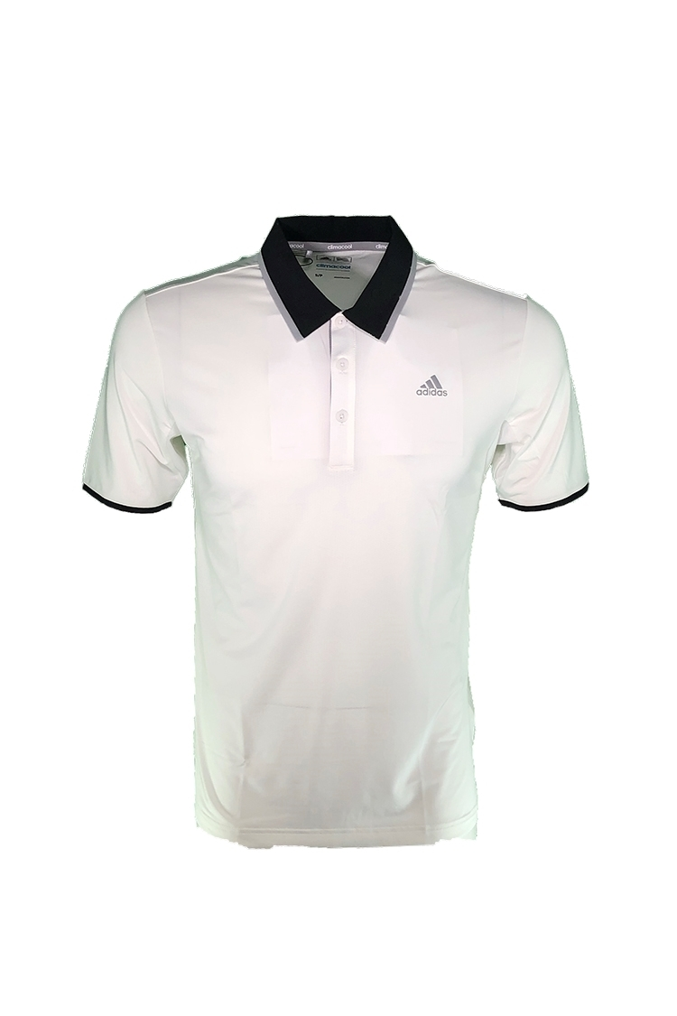 Picture of adidas Climacool Performance Polo Shirt - White / Black / Mid Grey