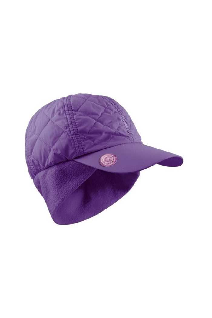 Picture of Surprizeshop znsw  Quilted Winter Cap with Ball Marker - Purple