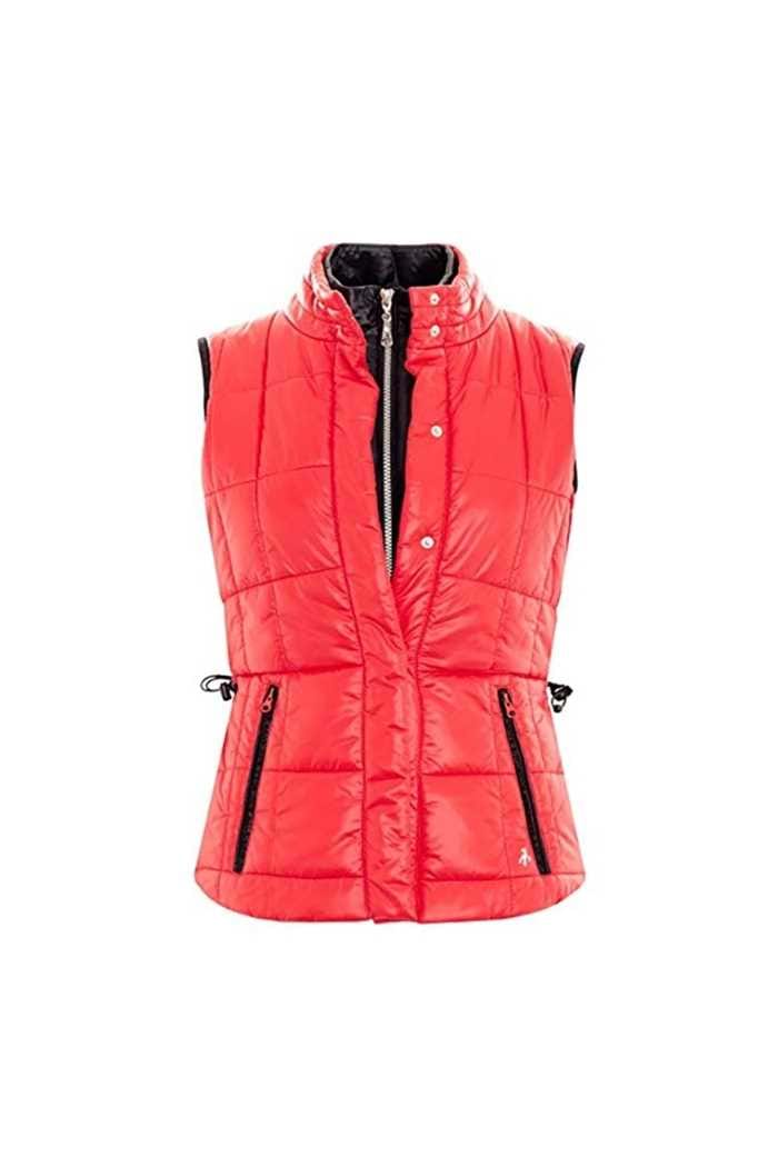 Picture of Green Lamb Jess Quilted Gilet - Berry/Black