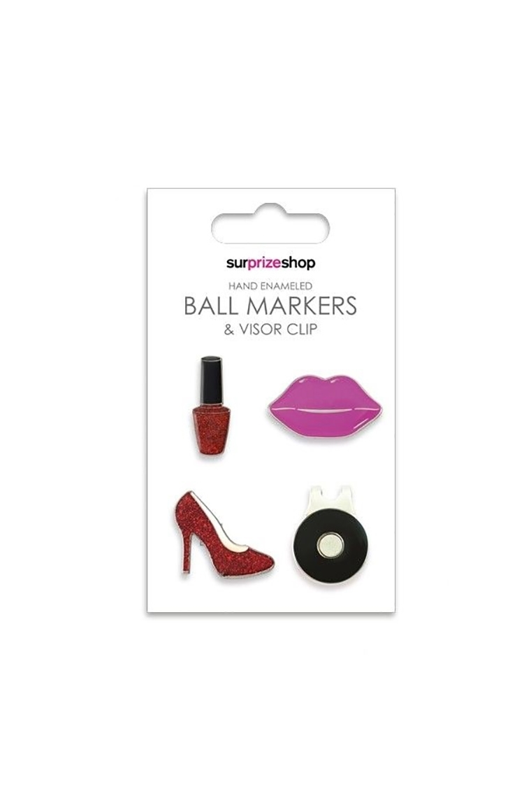 Picture of Surprizeshop Ball Markers and Visor Clip Set - Girly Glam Set