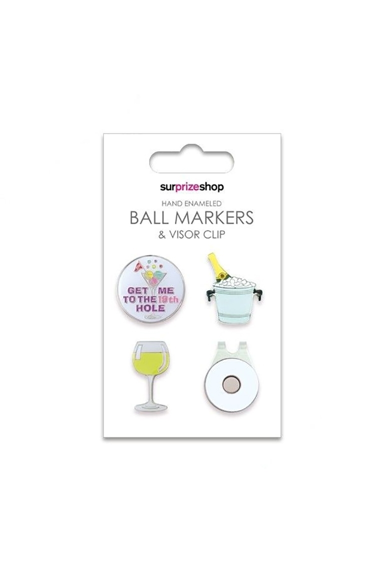 Picture of Surprizeshop Ball Markers and Visor Clip Set - Boozy Set