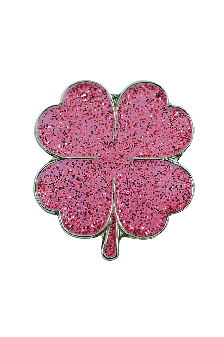 Picture of Surprizeshop Individual Ball Marker - Pink Four Leaf Clover