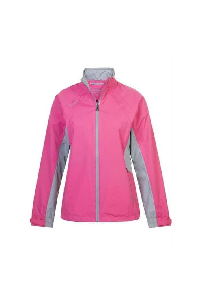 Picture of Proquip ZNS Aquastorm Ebony Waterproof Jacket - Pink / Dove Grey