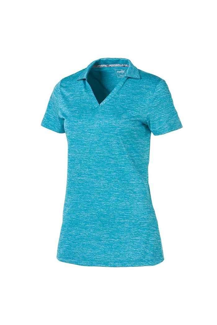Picture of Puma Golf Women's Super Soft Polo Shirt - Caribbean Sea Heather