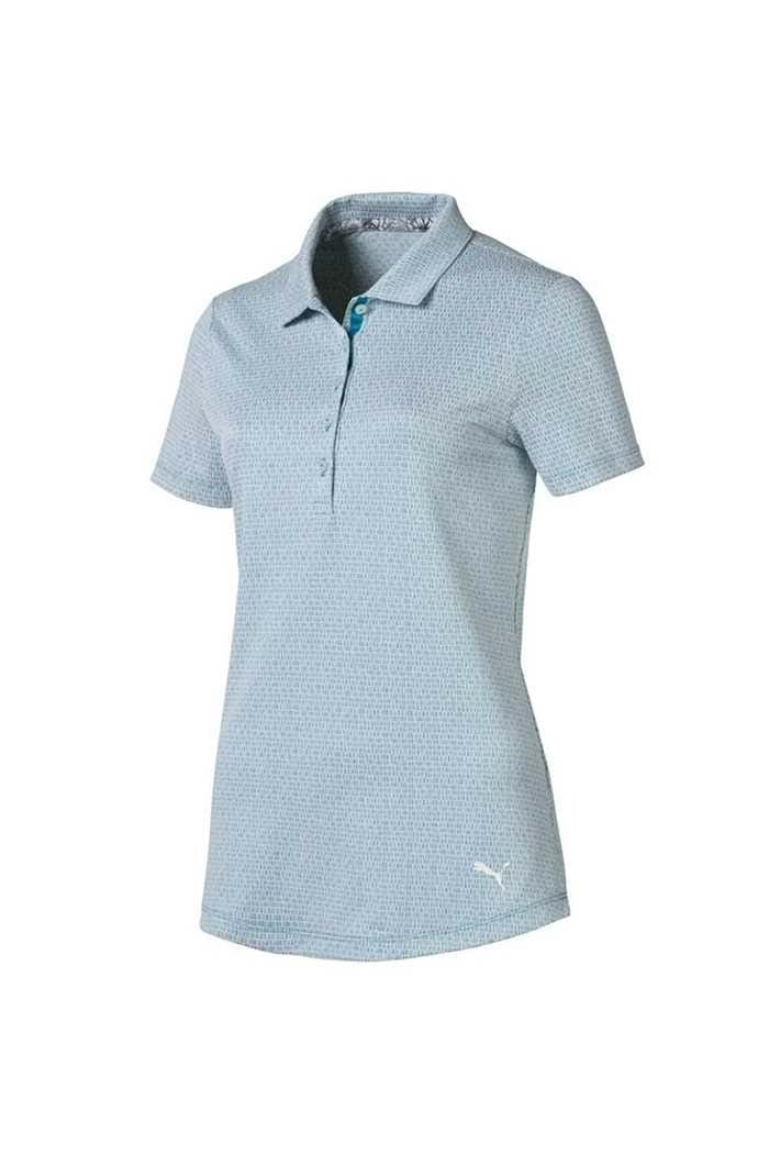Picture of Puma Golf  zns Ladies Swift Polo Shirt - Caribbean Sea / Bright White