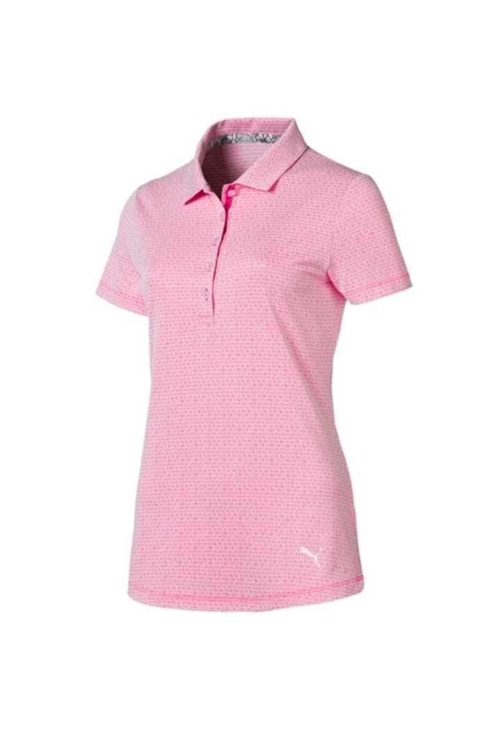 Picture of Puma ZNS Golf Ladies Swift Polo Shirt - Fuchsia / Bright White