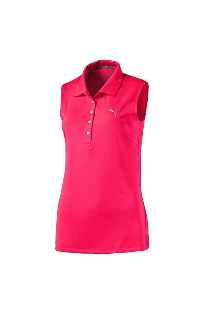 Picture of Puma ZNS Golf Women's Sleeveless Pounce Polo Shirt - Fuchsia Purple