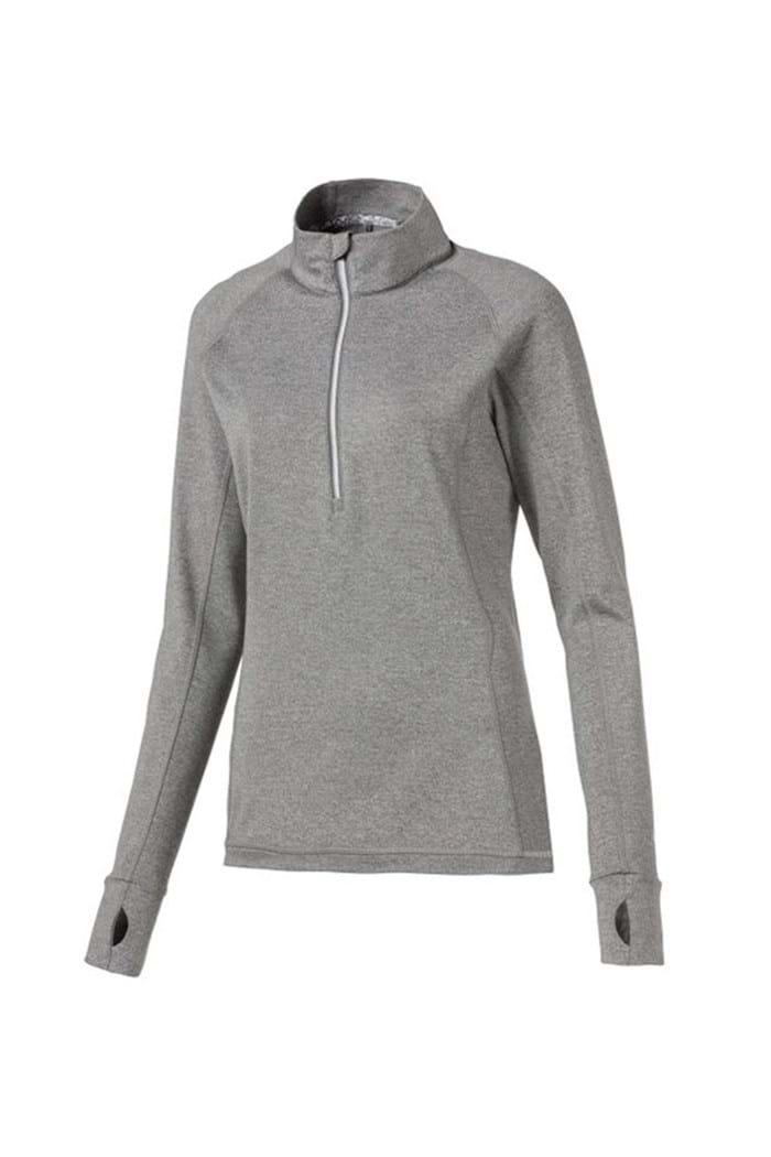 Picture of Puma Golf Women's Rotation 1/4 Zip - Medium Grey Heather