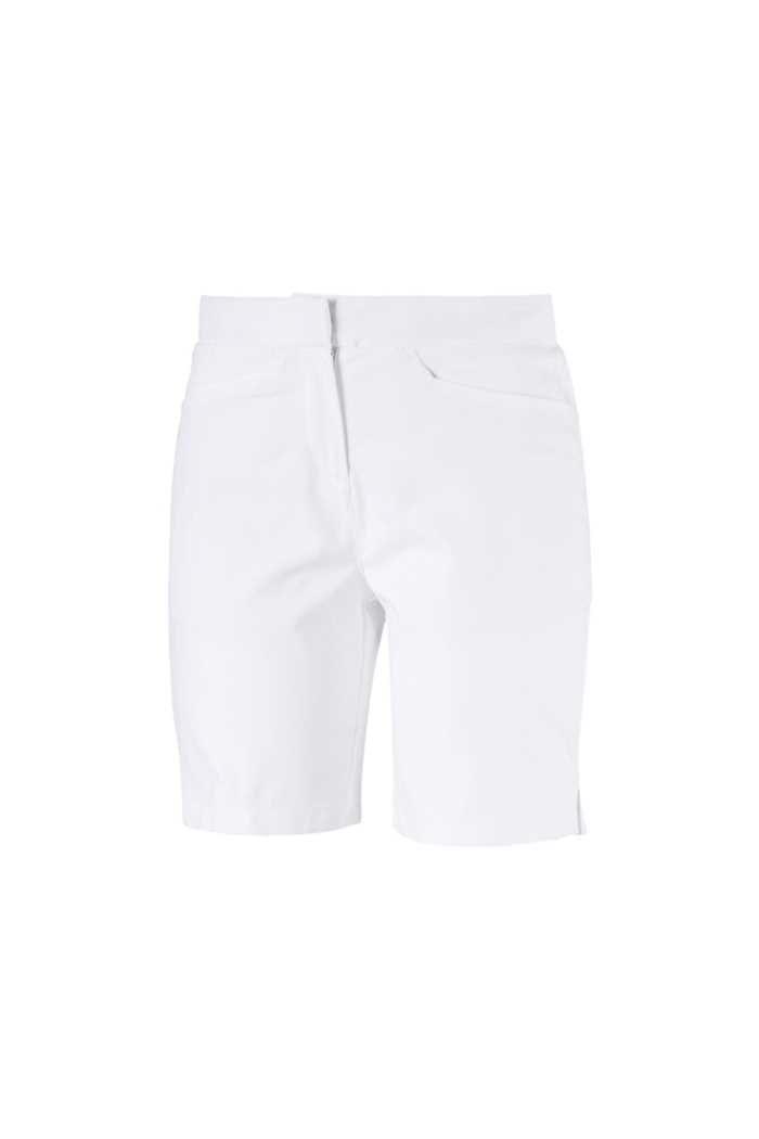 Picture of Puma Golf Women's Pounce Bermuda Golf Shorts - Bright White