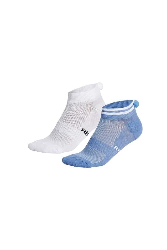 Picture of Rohnisch ZNS Pompom Socks - 2 Pack - Light Blue