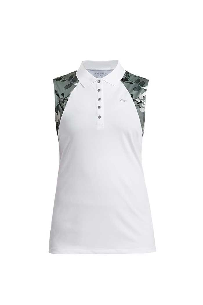 Picture of Rohnisch ZNS Leaf Sleeveless Polo Shirt - Green Leaves