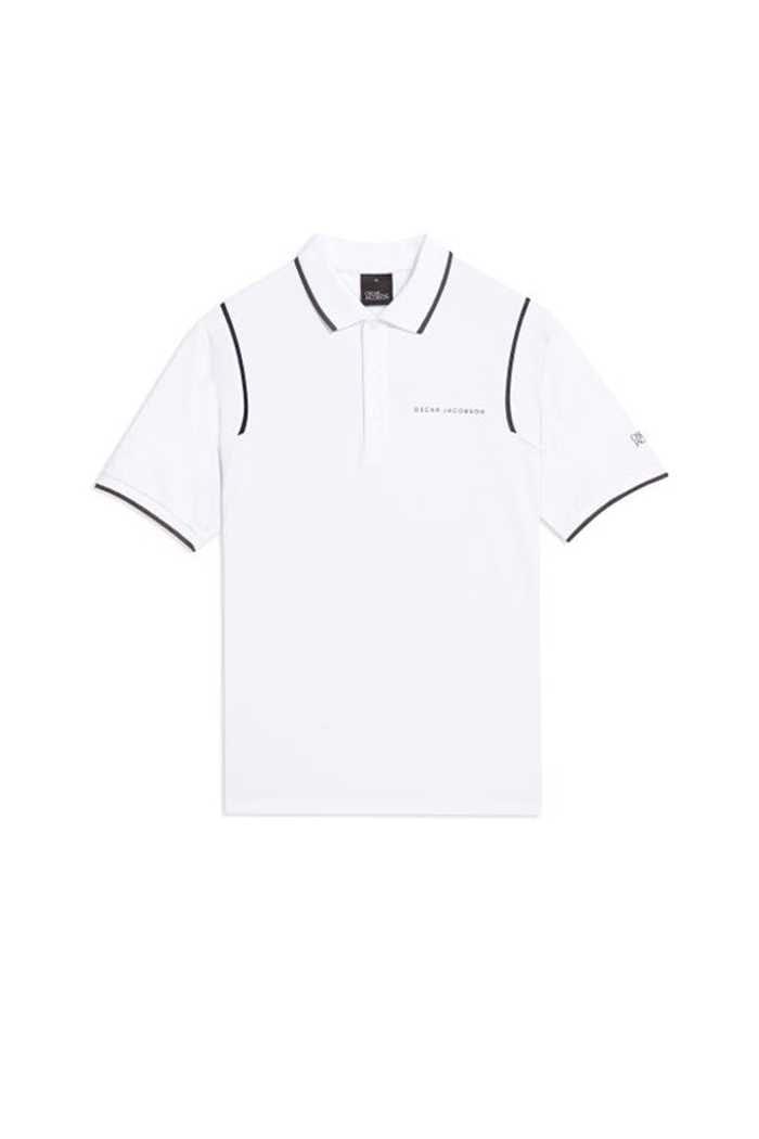 Picture of Oscar Jacobson ZNS Keaton Course Polo Shirt - White 916