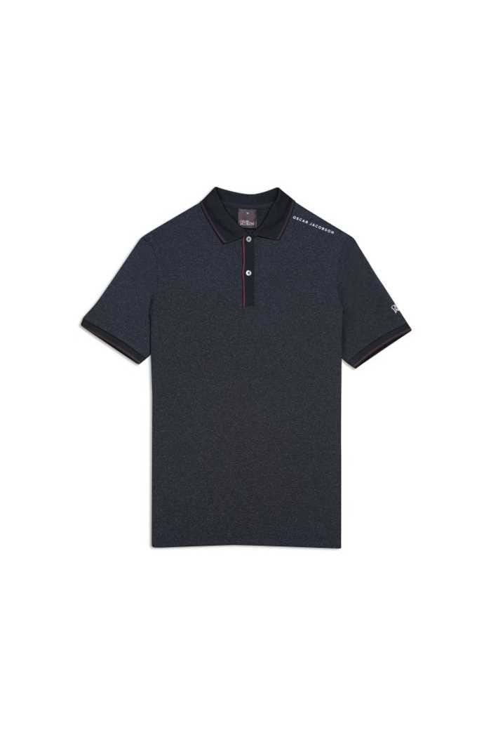 Picture of Oscar Jacobson zns Falcon Course Polo Shirt - Black 310