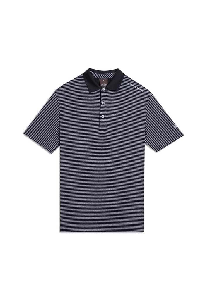 Picture of Oscar Jacobson ZNS Chester Course Polo Shirt - Black 311