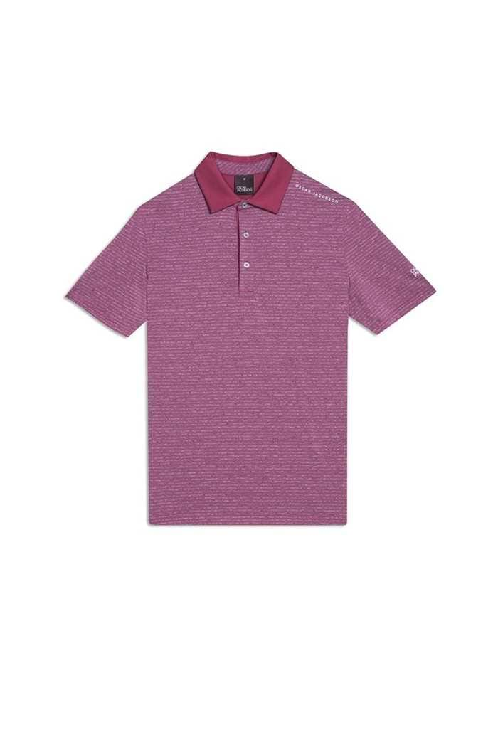 Picture of Oscar Jacobson ZNS Chester Course Polo Shirt - Maroon 670