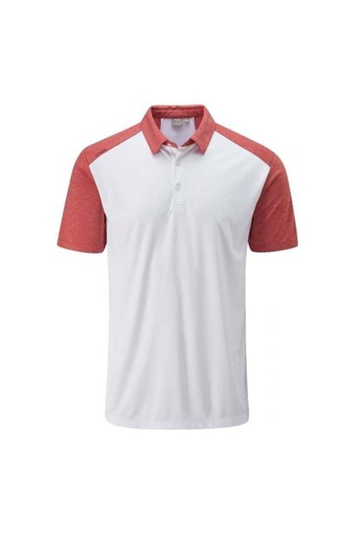 Picture of Ping Men's Sonoran Polo Shirt - White Deep Sea Coral Marl