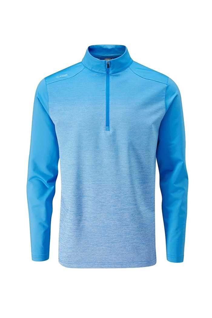 Picture of Ping Men's Fracture 1/4 Zip Sweater - Sky Azure Multi / Sky Azure