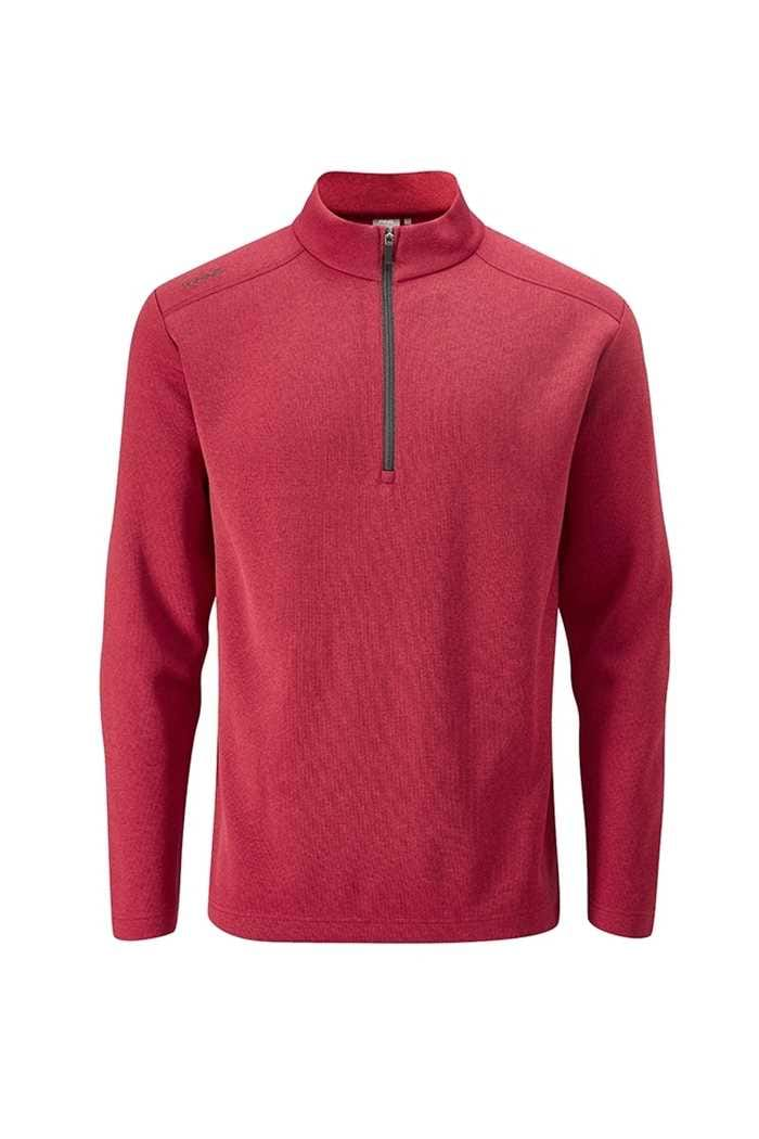 Picture of Ping Men's Ramsey 1/4 Zip Sweater - Rich Red Marl