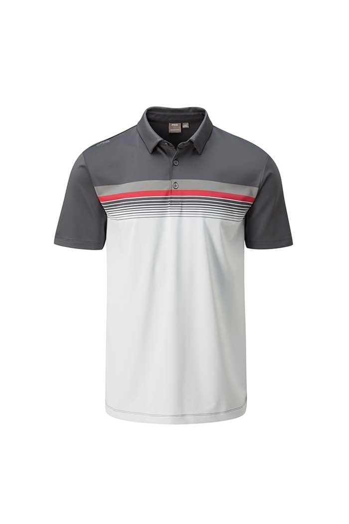Picture of Ping ZNS Men's Ridge Polo Shirt - Asphalt Multi