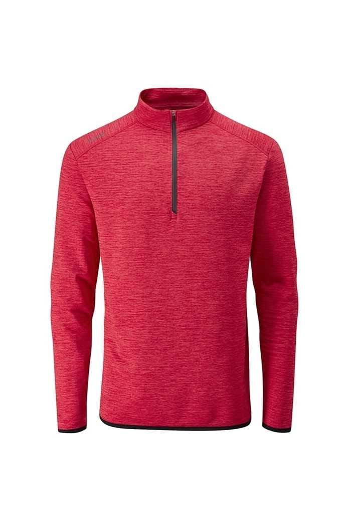 Picture of Ping Men's Elden 1/4 Zip Sweater - Iron Red Marl