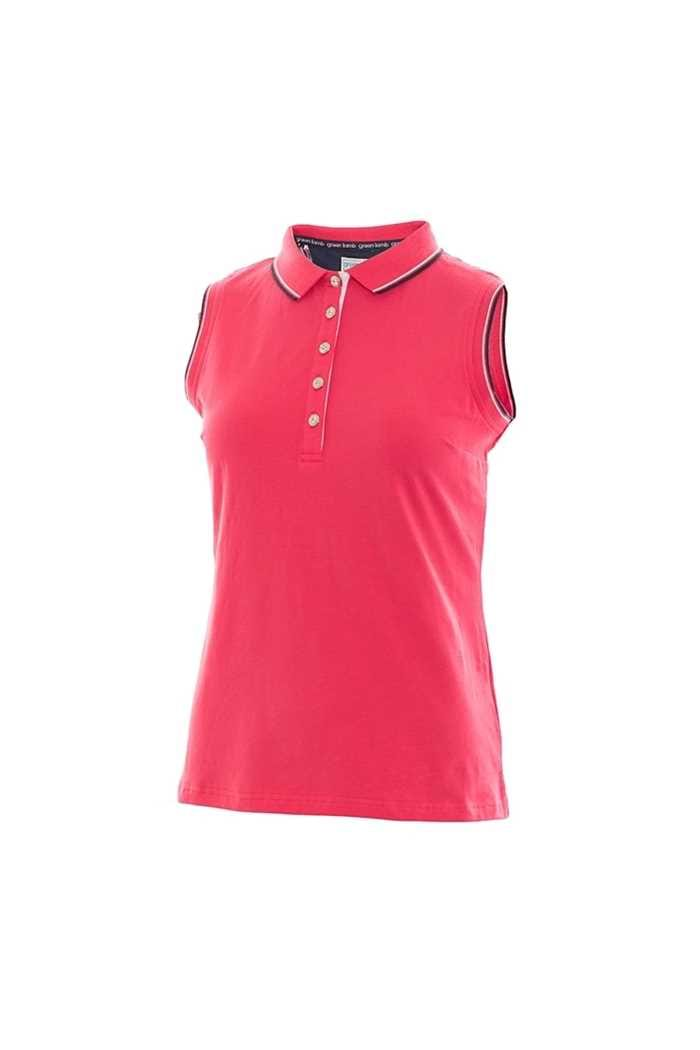 Picture of Green Lamb Pam Jersey Club Sleeveless Polo Shirt - Hibiscus