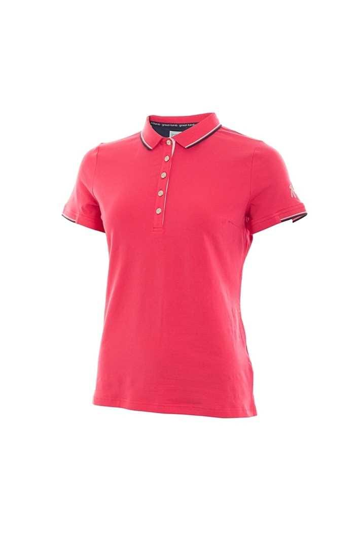 Picture of Green Lamb zns Paige Jersey Club Polo Shirt - Hibiscus