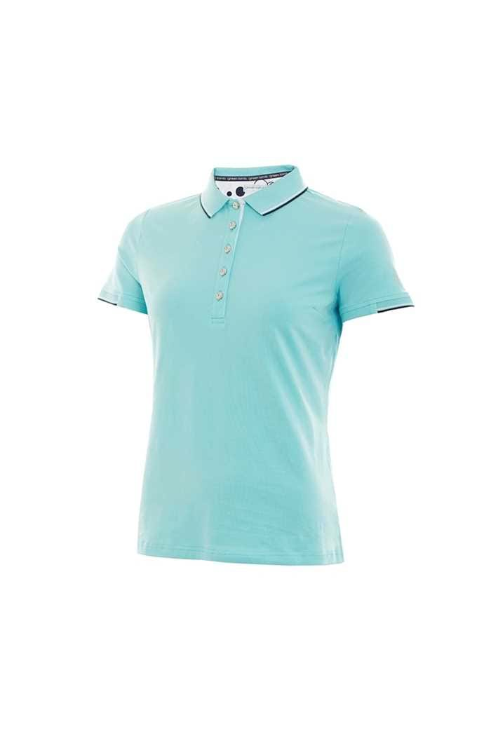 Picture of Green Lamb ZNS Paige Jersey Club Polo Shirt - Capri