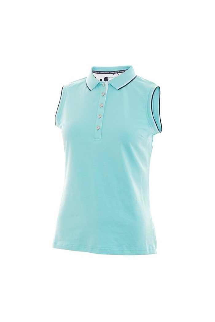 Picture of Green Lamb zns Pam Jersey Club Sleeveless Polo Shirt - Capri