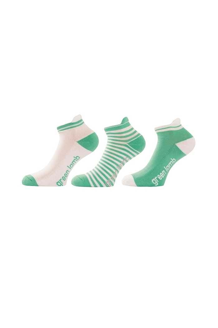 Picture of Green Lamb Patterned Socks - 3 pack - Green