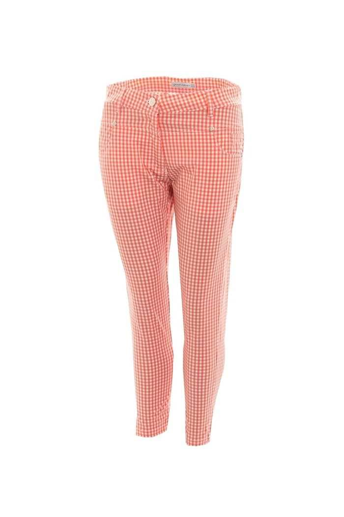 Picture of Green Lamb Trina Patterned Crops - Coral / White