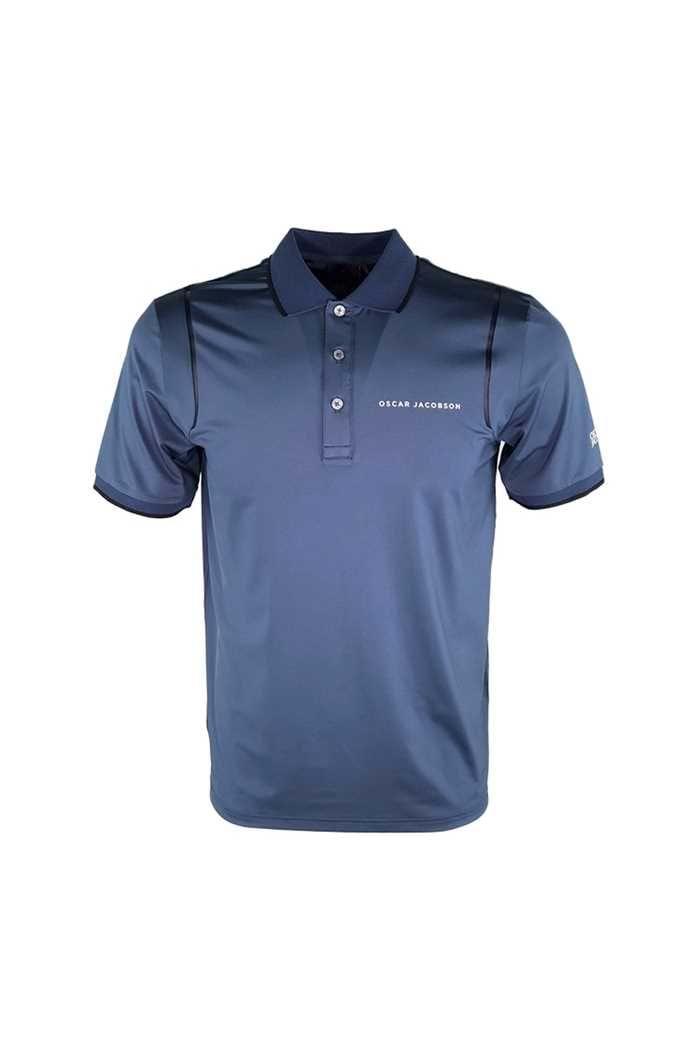 Picture of Oscar Jacobson ZNS Keaton Course Polo Shirt - Bluegrass 274