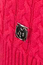 Picture of Green Lamb zns Brid Cable Sweater - Hibiscus