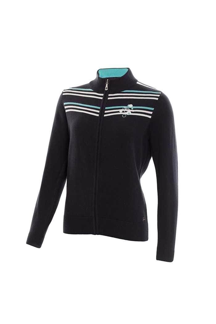 Picture of Green Lamb Genevieve Striped Cardigan - Navy