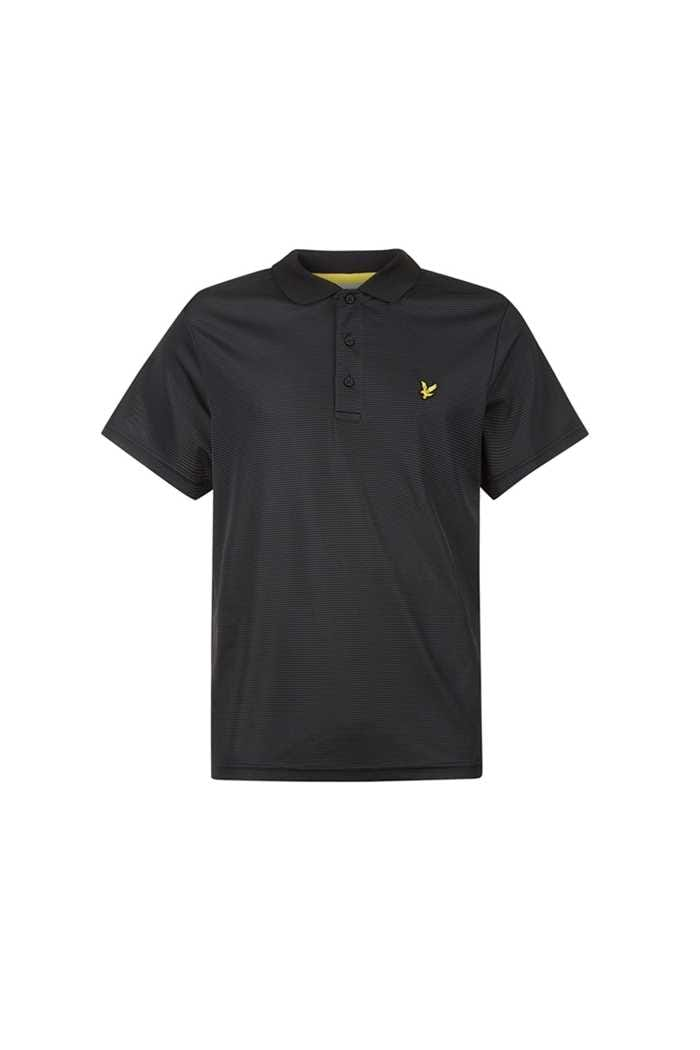 Picture of Lyle & Scott zns Kinloch Microstripe Polo Shirt - Black / Graphite
