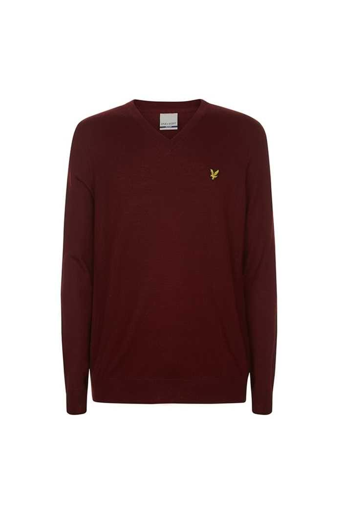 Picture of Lyle & Scott Men's Golf V Neck Pullover - Burnt Velvet