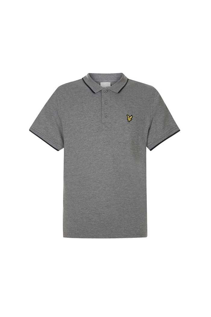 Picture of Lyle & Scott Golf Tipped Polo Shirt - Mid Grey Marl