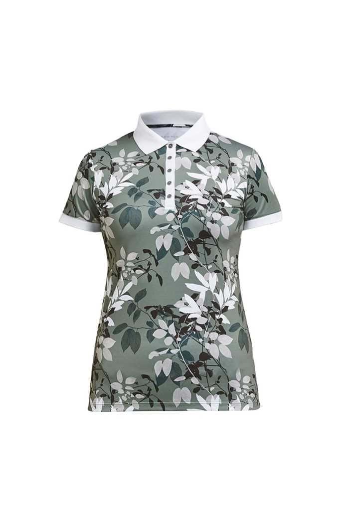 Picture of Rohnisch zns Leaf Polo Shirt - Green Leaves