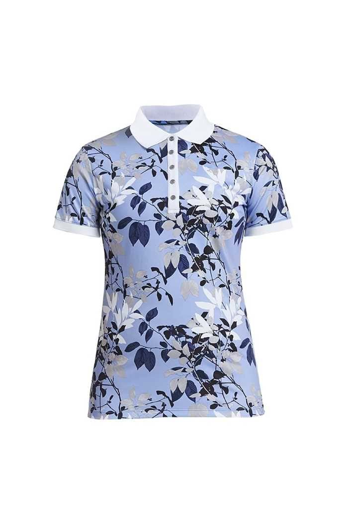 Picture of Rohnisch  zns Leaf Polo Shirt - Light Blue Leaves