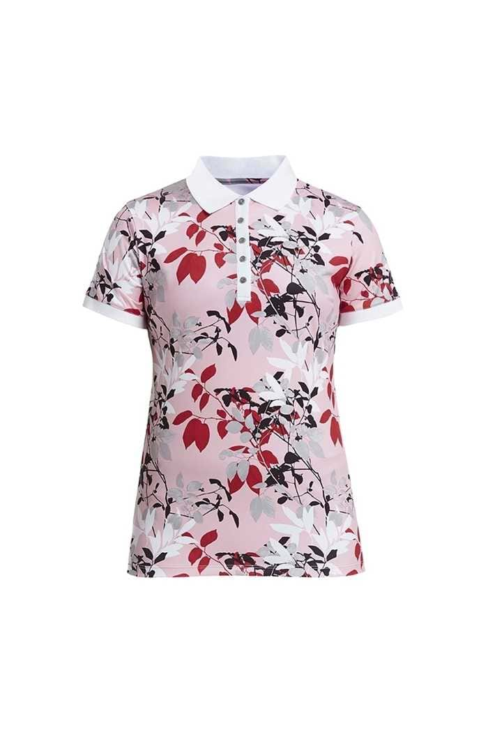 Picture of Rohnisch zns  Leaf Polo Shirt - Pink Leaves