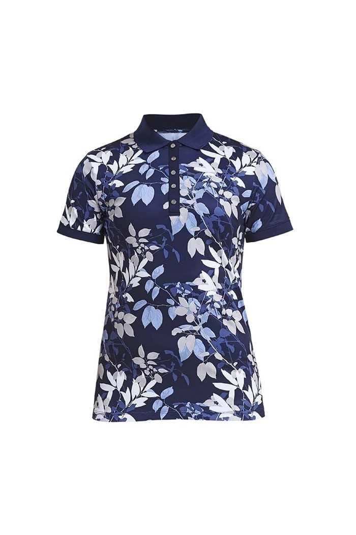 Picture of Rohnisch ZNS Leaf Polo Shirt - Navy Leaves
