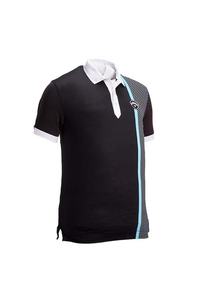 Picture of Callaway  Men's X Bold Linear Print Polo Shirt - Caviar