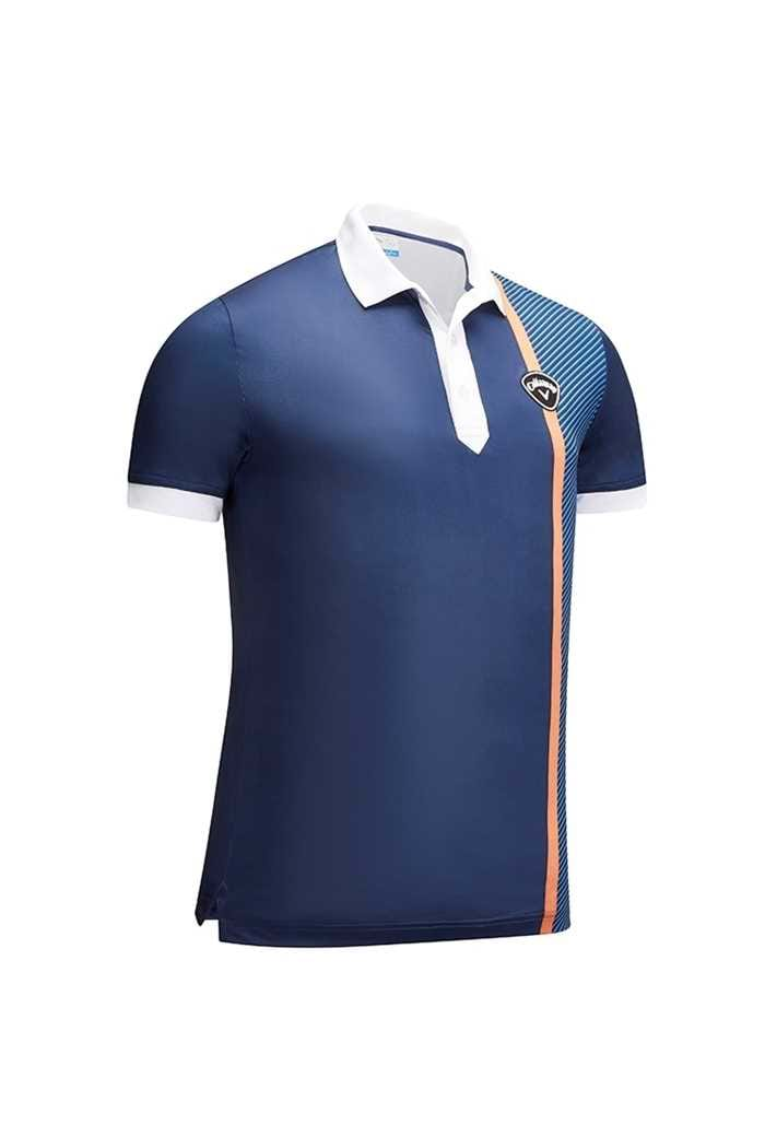 Picture of Callaway Men's X Bold Linear Print Polo - Dress Blue