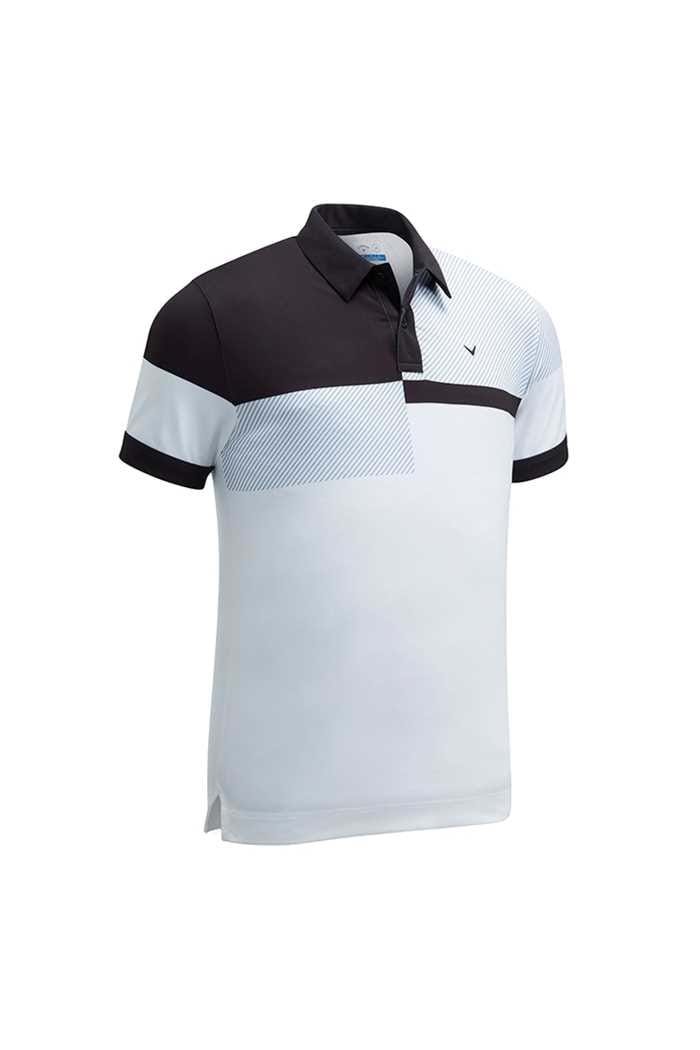 Picture of Callaway zns Men's X Chest Blocked Polo Shirt - Bright White