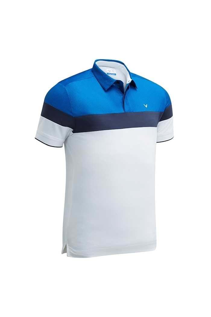 Picture of Callaway zns Men's X  Mini Geo Printed Block Polo Shirt - Bright White