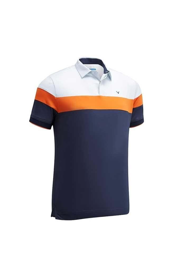 Picture of Callaway ZNS Men's X Mini Geo Printed  Block Polo Shirt - Dress Blue