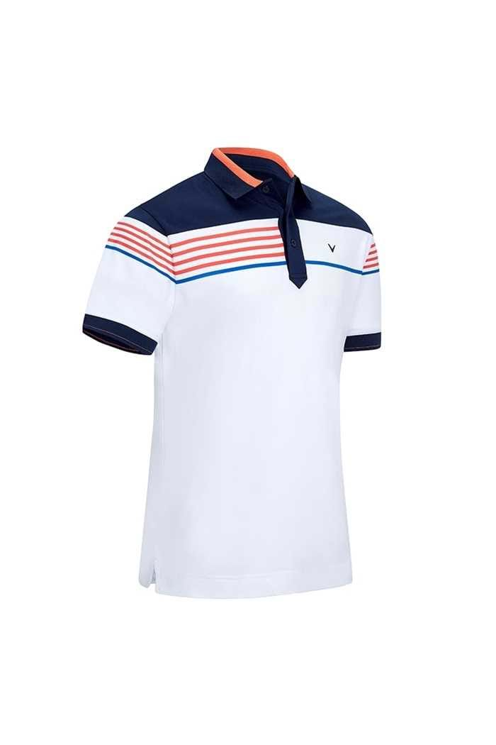 Picture of Callaway Zns Men's X Chest Stripe Block Polo Shirt - Bright White