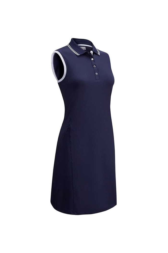 Picture of Callaway Golf zns Ladies Golf Dress with Ribbed Tipping - Navy