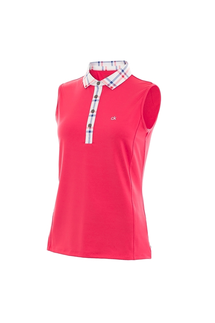 Picture of Calvin Klein zns Heritage Sleeveless Polo - Punch Pink