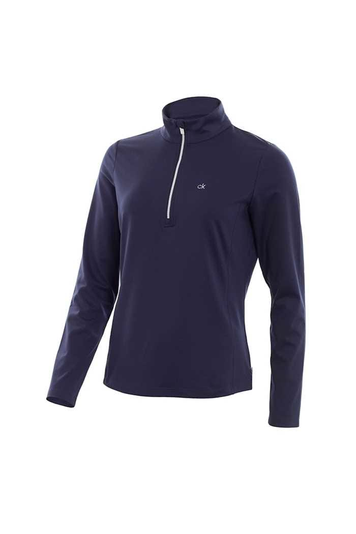 Picture of Calvin Klein ZNS Ladies Performance Trek Top - Navy