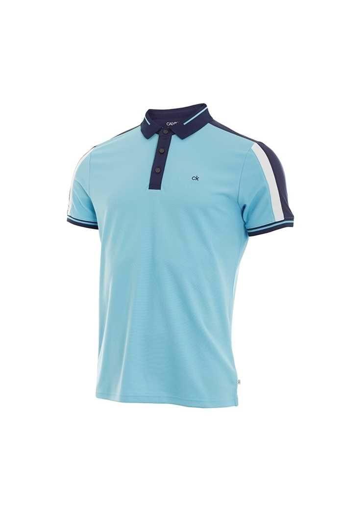 Picture of Calvin Klein zns Men's Aerospan Polo Shirt - Sky Blue